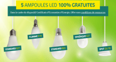 Carrefour LED gratuites : 1 Pack de 5 ampoules LED offert