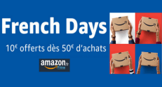 Code Promo Amazon : French Days Amazon 10€ de remise dès 50€ d'achats
