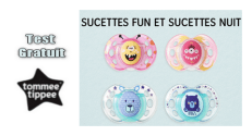 Tommee Tippee Test Gratuit : Sucettes nuit et fun Tommee Tippee