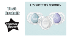 Tommee Tippee Test Gratuit : Sucettes Newborn Tommee Tippee