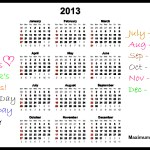 Looking Ahead – Marketing Calendar 2013