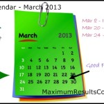 Looking Ahead – Marketing Calendar March 2013