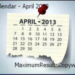 Looking Ahead – Marketing Calendar April 2013