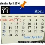 Looking Ahead – Marketing Calendar April 2014
