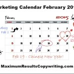 Looking Ahead – Marketing Calendar February 2015