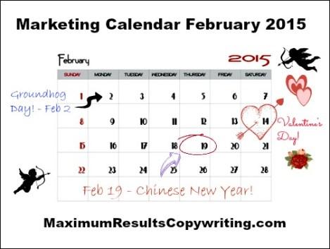Marketing Calendar February 2015