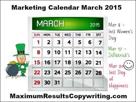 Marketing Calendar March 2015