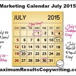 Looking Ahead – Marketing Calendar July 2015