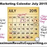 Looking Ahead – Marketing Calendar July 2015