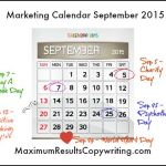 Looking Ahead – Marketing Calendar September 2015