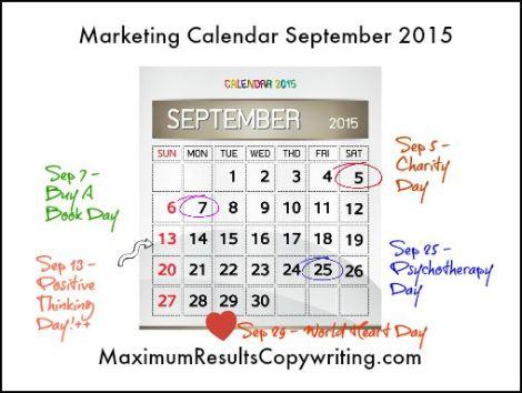 Marketing Calendar September 2015