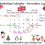 Looking Ahead – Marketing Calendar December 2015