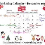 Looking Ahead – Marketing Calendar December 2015