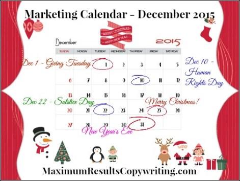 Marketing Calendar December 2015