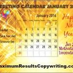 Looking Ahead – Marketing Calendar January 2016