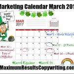 Looking Ahead – Marketing Calendar March 2017