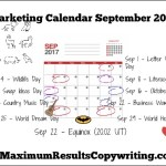 Looking Ahead – Marketing Calendar September 2017