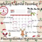 Looking Ahead – Marketing Calendar December 2017