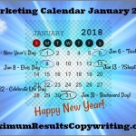 Looking Ahead – Marketing Calendar January 2018
