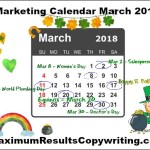 Looking Ahead – Marketing Calendar March 2108
