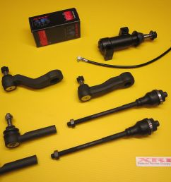 7 piece inner outer tie rod pitman idler arm kit silverado 2500 3500hd 4 4 [ 1600 x 1200 Pixel ]