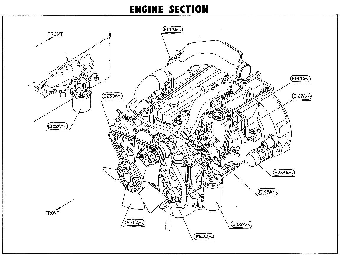 hight resolution of nissan cgb45a engine section