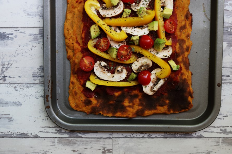 Sweet Potato and Quinoa Pizza Base