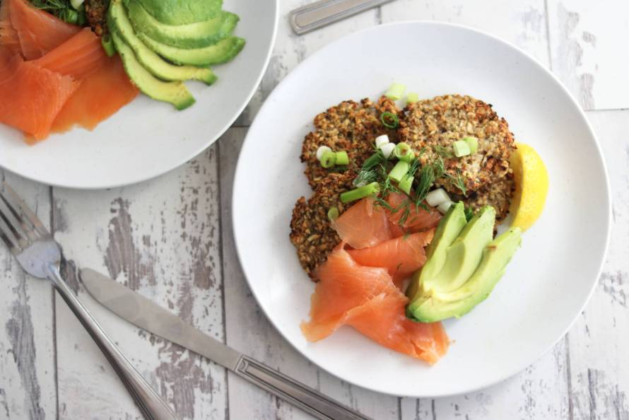 rosti smoked salmon avocado