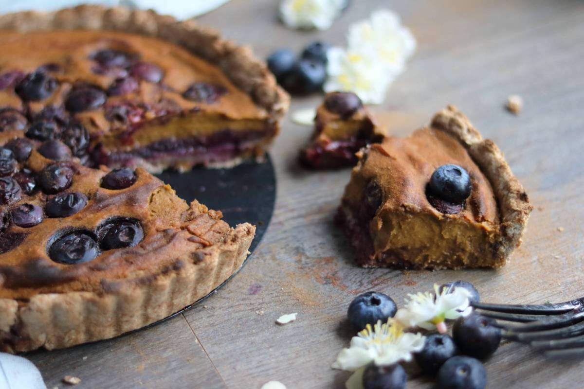 Sweet Potato and Blueberry Pie