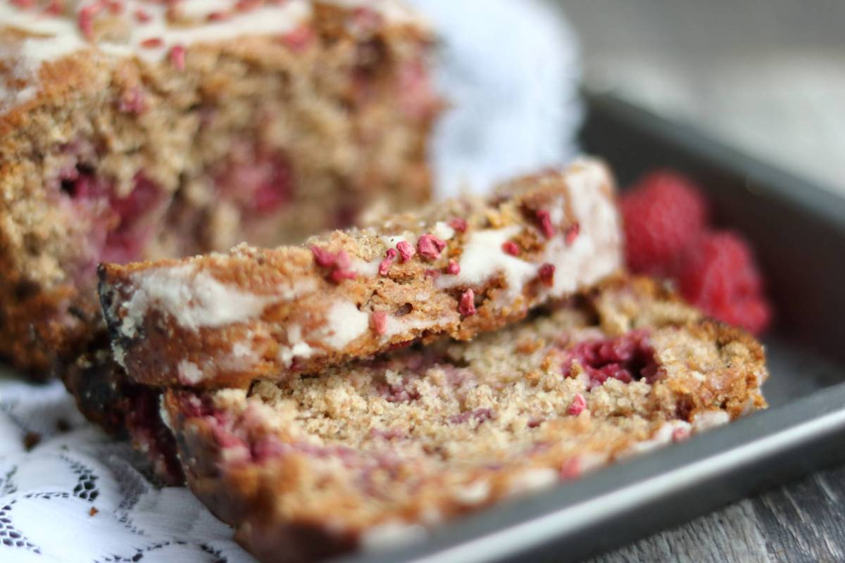 Raspberry and Lemon Drizzle Loaf