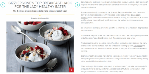 Women's Health UK - Gizzi Erskine's top breakfast hack for the lazy healthy eater