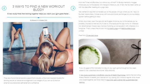 Women's Health UK - Three ways to find a workout buddy