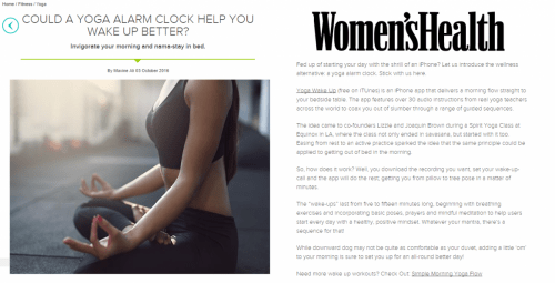 Women's Health UK - Could a yoga alarm clock help you wake up better?