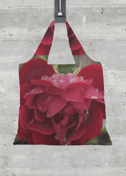VIDA FOLDAWAY TOTE (FRESH RED ROSE)