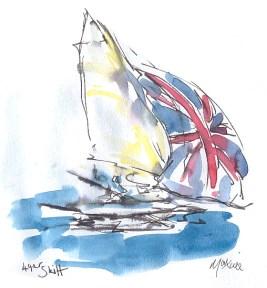 49er Skiff - Team GB - full sail