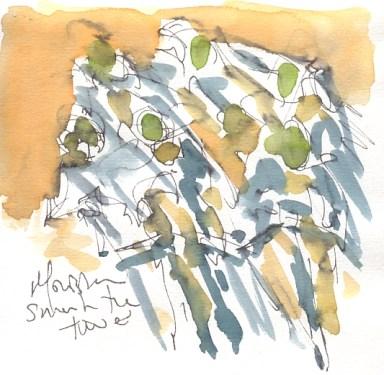 Maxine Dodd, painting Movistar cycling