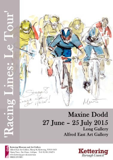 Maxine Dodd, 'Racing Lines: Le Tour' exhibition of paintings inspired by cycling