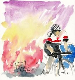 Tour de France, art, Maxine Dodd