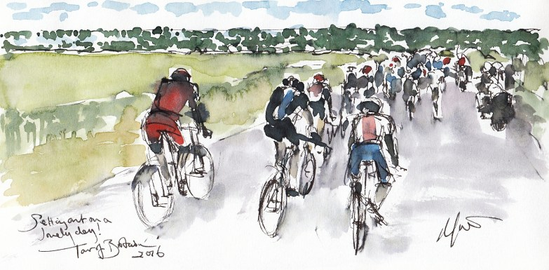Cycling, art, Maxine Dodd, Tour of Britain