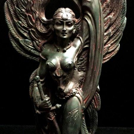Celtic Goddess of Death and War Morrigan Statue by Maxine Miller