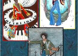 Bob Dylan: illustration by Maxine Miller