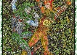 Celtic Oracle Deck (Oak & Holly Kings) - art by Maxine Miller
