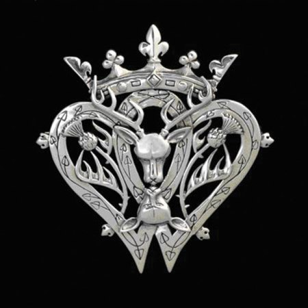 Victorian Scottish Luckenbooth Brooch : design by Maxine Miller