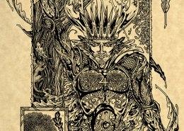 Oak King Parchment Print by Maxine Miller