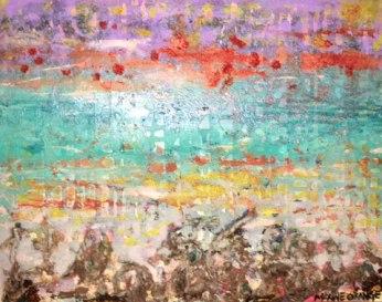 """""""Choctawhatchee"""" by Maxine Orange, 16"""" x 20"""" textured surrealist landscape http://etsy.me/2aBwZ86"""