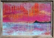 """Blacks Island"" 24x36"" w/ barnwood frame https://www.etsy.com/listing/477817066/blacks-island-24x36-mixed-media-painting"