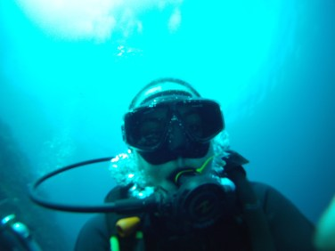 Unattractive diving face