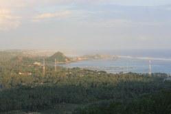 Hazy view of Kuta village