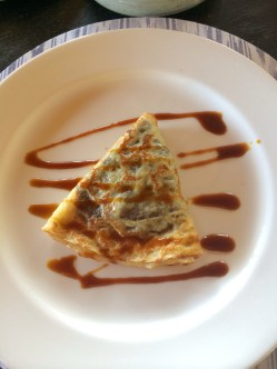 Chocolate coconut crepe... need I say more?