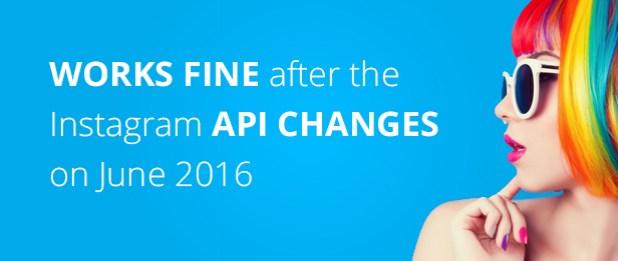 Works fine after the instagram API changes on June 2016